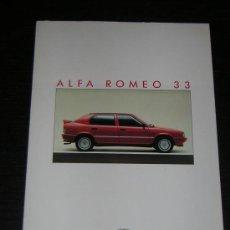 Coches y Motocicletas: ALFA ROMEO 33 - CATALOGO PUBLICIDAD ORIGINAL - 1987 - ESPAÑOL. Lote 12484579