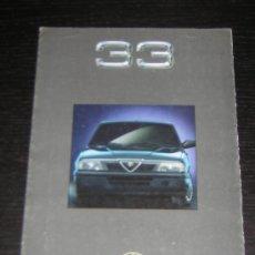 Coches y Motocicletas: ALFA ROMEO 33 - CATALOGO PUBLICIDAD ORIGINAL - 1990 - FRANCES. Lote 12484639