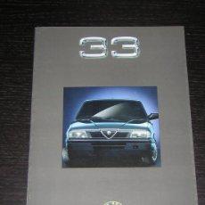 Coches y Motocicletas: ALFA ROMEO 33 - CATALOGO PUBLICIDAD ORIGINAL - 1990 - ESPAÑOL. Lote 12484664