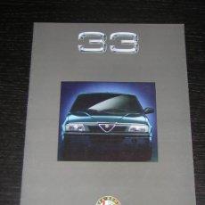 Coches y Motocicletas: ALFA ROMEO 33 - CATALOGO PUBLICIDAD ORIGINAL - 1991 - FRANCES. Lote 12484689