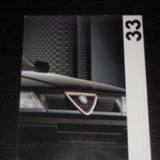 Coches y Motocicletas: ALFA ROMEO 33 - CATALOGO PUBLICIDAD ORIGINAL - 1992 - FRANCES. Lote 12484729