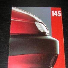 Coches y Motocicletas: ALFA ROMEO 145 - CATALOGO PUBLICIDAD ORIGINAL - 1994 - ESPAÑOL. Lote 12505327