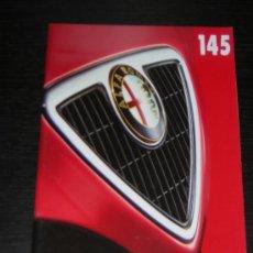 Coches y Motocicletas: ALFA ROMEO 145 - CATALOGO PUBLICIDAD ORIGINAL - 1997 - ESPAÑOL. Lote 12505330