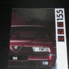 Coches y Motocicletas: ALFA ROMEO 155 - CATALOGO PUBLICIDAD ORIGINAL - 1992 - ESPAÑOL. Lote 12505361