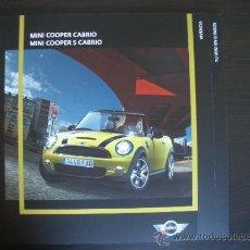 Coches y Motocicletas: MINI COOPER CABRIO 2009, CATALOGO COMERCIAL-BROCHURE. Lote 27111292
