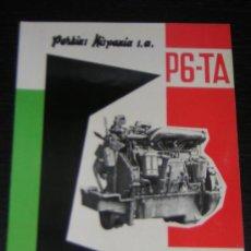 Coches y Motocicletas: PERKINS MOTOR DIESEL P6 TA - CATALOGO PUBLICIDAD ORIGINAL - ESPAÑOL. Lote 12561406