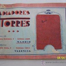 Coches y Motocicletas: CATÁLOGO ANTIGUO DE RADIADORES TORRES-CON 20 PÁG., ILUSTRADAS, MIDE 12 X 16.5 CM.-T. RÚSTICAS ILUST.. Lote 23350038