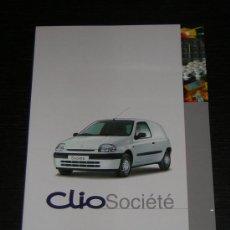 Coches y Motocicletas: RENAULT CLIO SOCIETE COMERCIAL - CATALOGO PUBLICIDAD ORIGINAL - 1999 - ESPAÑOL. Lote 12815625