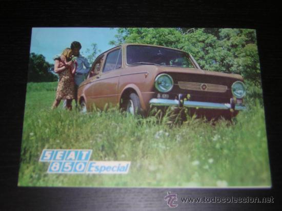SEAT 850 ESPECIAL - CATALOGO PUBLICIDAD ORIGINAL - 1968 - ESPAÑOL (Coches y Motocicletas Antiguas y Clásicas - Catálogos, Publicidad y Libros de mecánica)