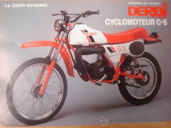 Lamina original publicidad ciclomotor derbi comprar for Catalogo derbi