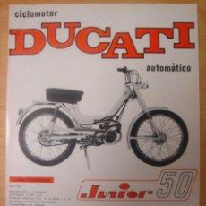 Coches y Motocicletas: .LAMINA PUBLICIDAD ORIGINAL DUCATI AUTOMATICO.MOTOTRANS.. Lote 13323975