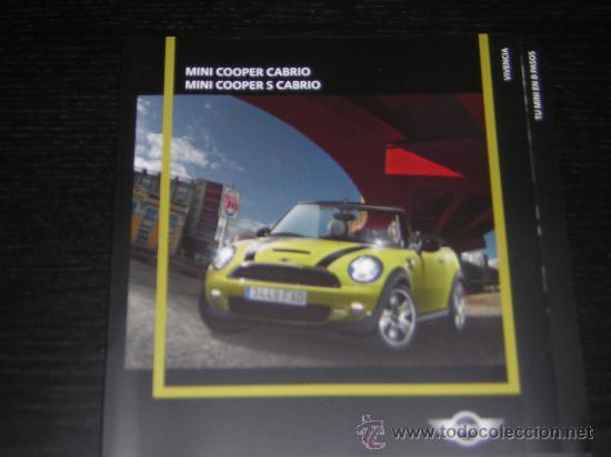 MINI COOPER CABRIO / COOPER S CABRIO / BMW - CATALOGO PUBLICIDAD ORIGINAL - 2009 - ESPAÑOL (Coches y Motocicletas Antiguas y Clásicas - Catálogos, Publicidad y Libros de mecánica)