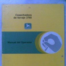 Coches y Motocicletas: MANUAL DE INSTRUCCIONES DE LA COSECHADORA DE FORRAJE JOHN DEERE 3760 OM-CC 25621. Lote 27367406