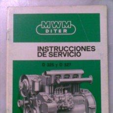 Carros e motociclos: INSTRUCCIONES DE SERVICIO PARA MOTORES MWM DITER D325 Y D327. Lote 29819023