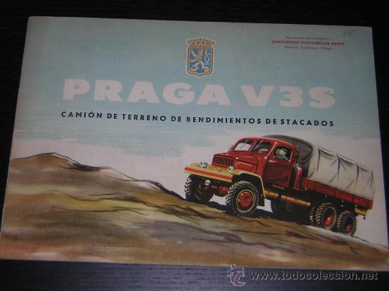 PRAGA V3S CAMION - CATALOGO PUBLICIDAD ORIGINAL - 1959 - ESPAÑOL (Coches y Motocicletas Antiguas y Clásicas - Catálogos, Publicidad y Libros de mecánica)