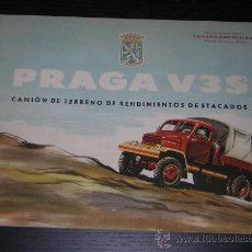 Coches y Motocicletas: PRAGA V3S CAMION - CATALOGO PUBLICIDAD ORIGINAL - 1959 - ESPAÑOL. Lote 13633635