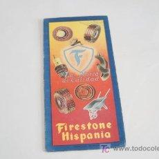 Coches y Motocicletas: MAPA DE CARRETERAS. FIRESTONE HISPANIA. 4º. Lote 22171310