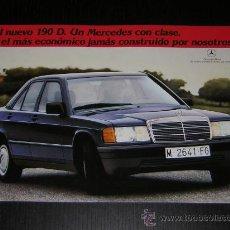 Coches y Motocicletas: MERCEDES 190 D - ARTICULOS PRENSA - CATALOGO PUBLICIDAD ORIGINAL - 1984 - ESPAÑOL. Lote 133379162