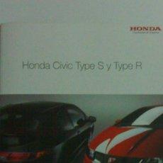 Coches y Motocicletas: HONDA CIVIC TYPE R Y TYPE S CATALOGO 2009. Lote 26933099