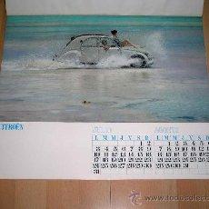 Coches y Motocicletas: MUY RARO CALENDARIO 6 HOJAS CITROËN 2 CV APROX. 55 CMS DE LARGO, ORIGINAL AÑO 1967. .. Lote 27200863