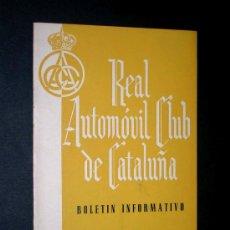 Coches y Motocicletas: BOLENTÍN REAL AUTOMÓVIL CLUB DE CATALUÑA, I-II 1955, SALVADOR FABREGAS, TRIBUNAL SUPREMO.. Lote 26859837