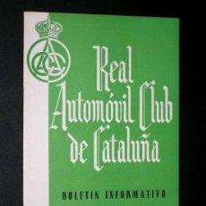 Coches y Motocicletas: BOLENTÍN REAL AUTOMÓVIL CLUB DE CATALUÑA, XI 1955, CAMPEONATO DE CATALUÑA, PALACIO, GODIA. . Lote 27429892