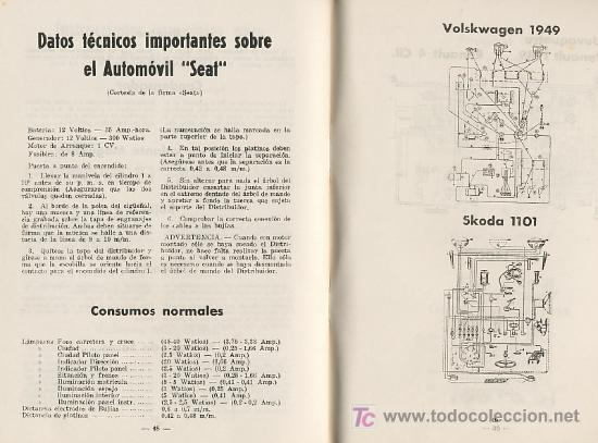 SISTEMA ELECTRICO DEL AUTOMOVIL DATOS TECNICOS SEAT , BISCUTER – VOISIN 1959 JANZEN F. ESTRADA (Coches y Motocicletas Antiguas y Clásicas - Catálogos, Publicidad y Libros de mecánica)