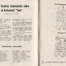 Coches y Motocicletas: SISTEMA ELECTRICO DEL AUTOMOVIL DATOS TECNICOS SEAT , BISCUTER – VOISIN 1959 JANZEN F. ESTRADA. Lote 24126982