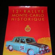 Coches y Motocicletas: CARTEL POSTER - 12º RALLYE MONTE CARLO HISTORICO 2009 - MONACO RALLY MONTECARLO - RENAULT 8. Lote 21078109