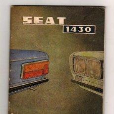 Coches y Motocicletas: CATALOGO SEAT 1430 , USO Y ENTRETENIMIENTO, MUY ILUSTRADO, 1971. Lote 15893892