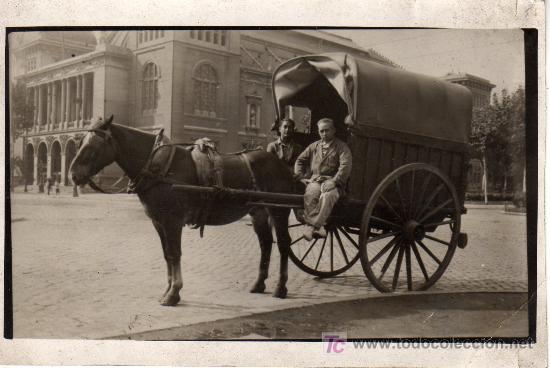 POSTAL DE UN CARROMATO-CARRUAJE-CARRO- CABALLO (Coches y Motocicletas Antiguas y Clásicas - Catálogos, Publicidad y Libros de mecánica)