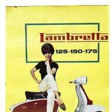 Coches y Motocicletas: CARTEL LAMBRETTA 125-150-175. SCOOTERLINEA. CASTROMOTOR. MOTO. 55 X 70 CM.. Lote 23160418