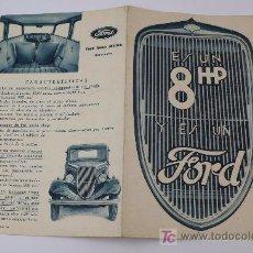 Coches y Motocicletas: FORD 8 HP. CATÁLOGO 2 HOJAS. 18X23 CM ABIERTO. Lote 14927995