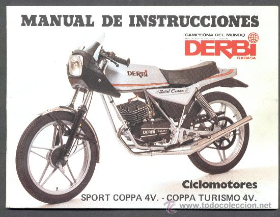 Manual instrucciones derbi sport coppa comprar cat logos for Catalogo derbi