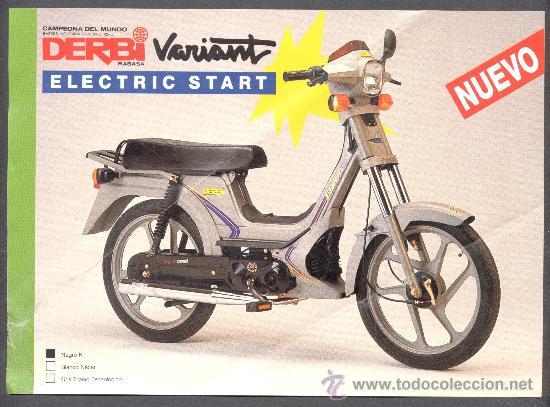 Derbi variant electric start comprar cat logos for Catalogo derbi