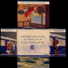 Coches y Motocicletas: PUBLICIDAD DE LOS AÑOS 30, DE LA AGENCIA GENERAL DE VIAJES DE LA COMPAÑIA DE COCHES CAMAS. Lote 14960949