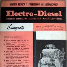 Coches y Motocicletas: REVISTA TÉCNICA ELECTRO - DIESEL, Nº 11 - MAYO 1961- TEXTO EN ESPAÑOL.. Lote 26786655