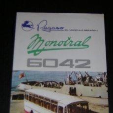 Coches y Motocicletas: PEGASO MONOTRAL 6042 AUTOCAR AUTOBUS - CATALOGO PUBLICIDAD ORIGINAL - 1969 - ESPAÑOL. Lote 14994802