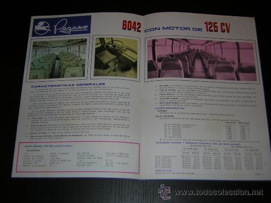 Coches y Motocicletas: PEGASO MONOTRAL 6042 AUTOCAR AUTOBUS - CATALOGO PUBLICIDAD ORIGINAL - 1969 - ESPAÑOL - Foto 2 - 14994802