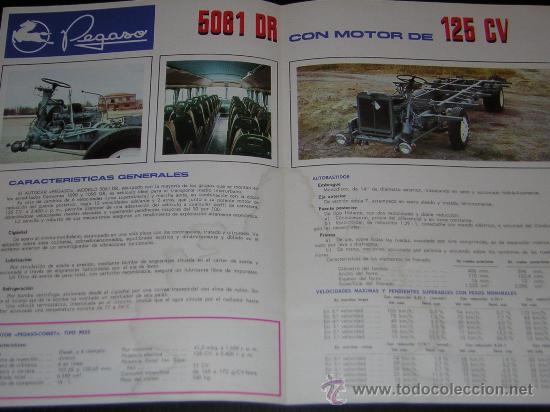 Coches y Motocicletas: PEGASO 5061 DR AUTOCAR - CATALOGO PUBLICIDAD ORIGINAL - 1970 - ESPAÑOL - Foto 2 - 14994964