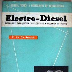 Coches y Motocicletas: REVISTA TÉCNICA ELECTRO - DIESEL, Nº 14 - AGOSTO 1961- TEXTO EN ESPAÑOL. Lote 26445554