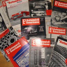 Coches y Motocicletas: EL AUTOMOVIL AMERICANO - LOTE DE REVISTAS AÑOS 50 Y 60. Lote 26694551