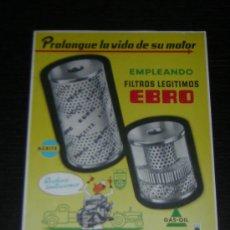 Coches y Motocicletas: EBRO FORD MOTOR IBERICA FILTROS - CATALOGO PUBLICIDAD ORIGINAL - ESPAÑOL. Lote 15125036
