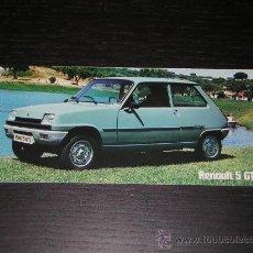 Coches y Motocicletas: RENAULT 5 GTL - CATALOGO PUBLICIDAD ORIGINAL - 1978 - ESPAÑOL. Lote 15185730
