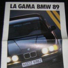 Coches y Motocicletas: BMW GAMA - CATALOGO PUBLICIDAD ORIGINAL - 1989 - ESPAÑOL. Lote 15209178