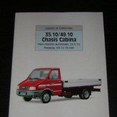 Coches y Motocicletas: IVECO 35.10 / 49.10 CHASIS CABINA - CATALOGO PUBLICIDAD ORIGINAL - 1989 - ESPAÑOL. Lote 15306312