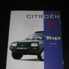 Coches y Motocicletas: CITROEN C15 TOP - CATALOGO PUBLICIDAD ORIGINAL - 2004 - ESPAÑOL. Lote 15322040