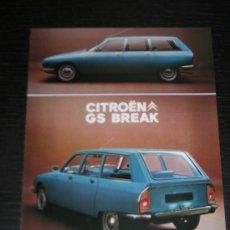 Coches y Motocicletas: CITROEN GS BREAK - CATALOGO PUBLICIDAD ORIGINAL - 1971 - FRANCES. Lote 15332649