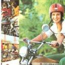 Coches y Motocicletas: LAMINA PUBLICIDAD ORIGINAL MOTOVESPA.GILERA 50 C.C.CARACTERISTICAS TECNICAS AL REVERSO. Lote 27257810