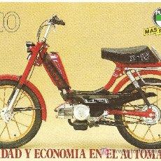 Coches y Motocicletas: LAMINA PUBLICIDAD ORIGINAL PUCH X-10.CARACTERISTICAS TECNICAS AL REVERSO. Lote 112629866